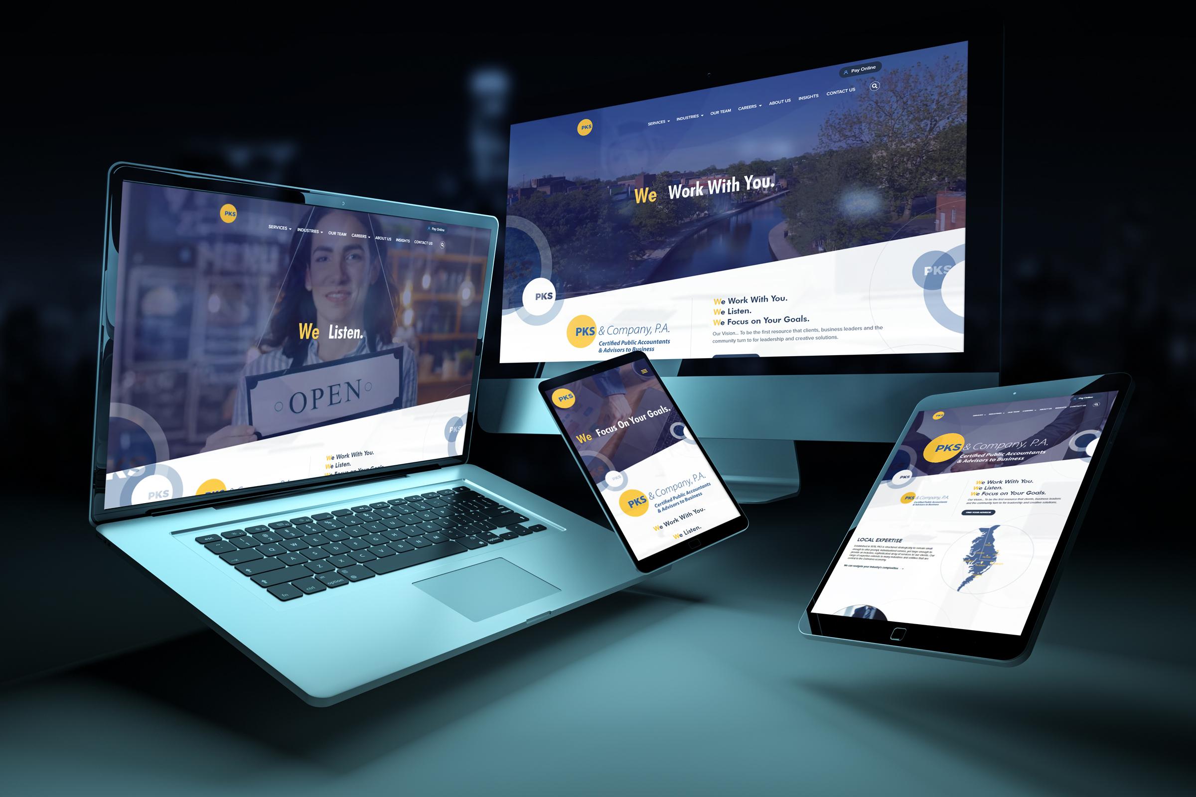 PKS CPA website redesign by local Salisbury and Ocean City Web Design Agency, Garner Group Marketing
